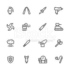 Weapon Icons royalty-free stock vector art