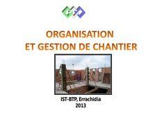 Cours de Gestion des chantiers ISTA_BTP Errachidia