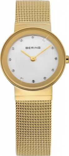 Bering Ladies Classic Two-Tone Stainless Steel Mesh Watch Stainless Steel Mesh, Classic Gold, Classic Collection, Metal Bracelets, Gold Watch, Jewelry Watches, Women's Watches, Luxury Watches, Zen