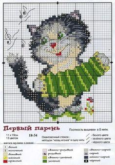 Котики / Вышивка / Вышивка крестом