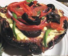 Rawfully Tempting™: Raw Portobello Mushroom Pizza