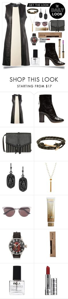 """""""Get the look"""" by camry-brynn ❤ liked on Polyvore featuring Paco Rabanne, Isabel Marant, MIANSAI, Kendra Scott, Fragments, Gucci, Xen-Tan, Proff, Stila and ncLA"""
