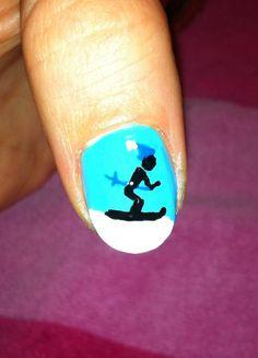 Ski trip nail art