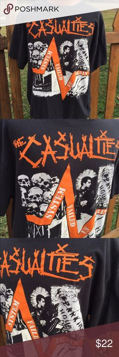 The Casualties Punk Band T Shirt Size XL Size XL. No graphics on back. Be sure to view the other items in our closet. We offer both women's and Mens items in a variety of sizes. Bundle and save!! Thank you for viewing our item!! Anvil Shirts Tees - Short Sleeve