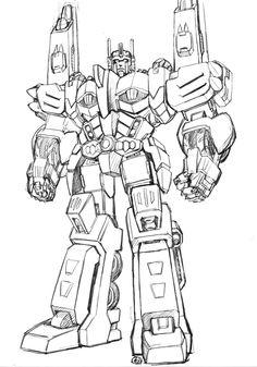 Predaking transformers coloring pages ~ transformer sketch art - Google Search   Robots   Art ...