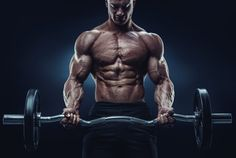 Closeup portrait of a muscular man workout with barbell at gym. Brutal bodybuilder athletic man with six pack, perfect abs, shoulders, biceps, triceps and Best Forearm Exercises, Forearm Workout, Biceps Workout, Workout Exercises, Flexibility Exercises, Body Training, Weight Training, Weight Lifting, Weight Loss
