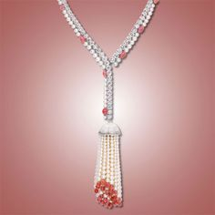 Eclat Jewels: Conch Pearl, Diamond, Pearl and Mother of Pearl Sautoir