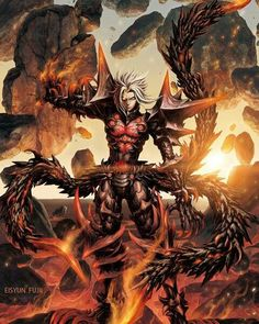 Haseo Third Form - Terror of Death Game Character, Character Concept, Concept Art, Fantasy Character Design, Character Design Inspiration, Dot Hack, Epic Art, Illustrations And Posters, Creature Design
