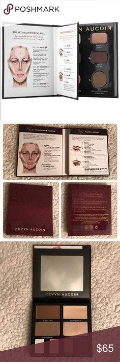"""Kevyn Aucoin Contour Book Volume II A portable contour palette with every shade needed to redefine the look of your face along with detailed instructions on how to do it. Make cheekbones appear stronger, your face appear slimmer, or create a more sculpted appearance with this contour palette. Kevyn Aucoin pioneered the """"art of contouring"""" and his innovative techniques transformed the faces of supermodels, celebrities, and women everywhere. Barely used, I only color tested one of the…"""