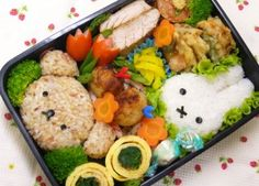 Kyaraben or charaben (キャラ弁), a shortened form of character bento!