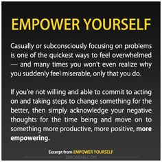 Excerpt from: Empower yourself