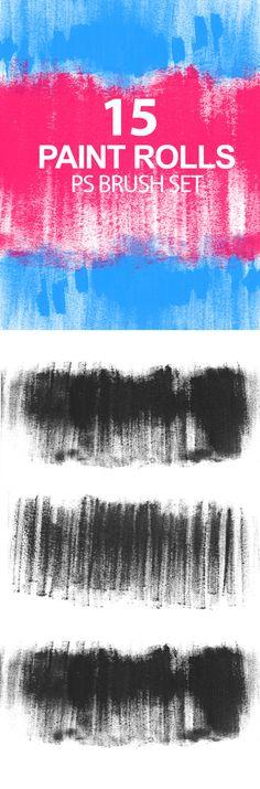 Paint Rolls Photoshop Brush Set Photoshop #ps #brushes Download: http://graphicriver.net/item/paint-rolls-photoshop-brush-set-/6724034?ref=ksioks