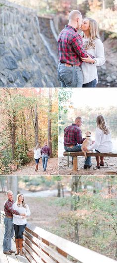 Fall Paris Mountain Engagement Session in Greenville, South Carolina