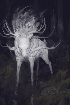 Deer God by Glad-Sad.deviantart.com on @deviantART