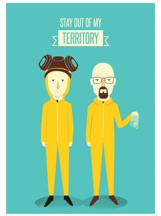 Poster Breaking Bad. Walter White e Jesse Pinkman