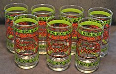 7 Coca-Cola tumblers (there used to be 8 - oops, my bad! Christmas Gifts For Him, Christmas Sale, Coca Cola Glasses, Pink Drinks, I Am Bad, Tumbler, My Etsy Shop, Buy And Sell, Mugs