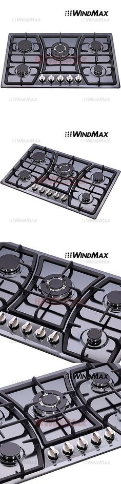 High Quality Cooktops 71246: 30Inch Titanium Stainless Steel 5 Burners Cooktop Built In  Stove Lpg Ng Gas