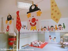 Clown Crafts, Carnival Crafts, Winter Crafts For Kids, Kids Crafts, Arts And Crafts, Circus Art, Circus Theme, Theme Carnaval, Circus Illustration