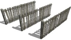 wooden fence - 3D Warehouse
