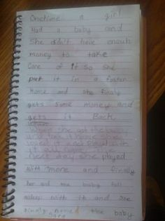 Writing activity for children that helps the improve their writing and language skills