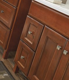 Haas Cabinet, Door Style: Tudor Shown In Ginger Finish