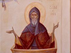 Simeon by Gabriel Toma Chituc Orthodox Icons, Holy Quran, Gabriel, Christianity, Saints, Religion, Statue, Painting, Santos
