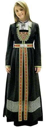 Norwegian folk costume from Hardanger. I LOVE Hardanger embroidery -- it's so beautifully geometric. Folk Clothing, Historical Clothing, Folklore, Costume Ethnique, Costumes Around The World, Ethnic Dress, Lofoten, Folk Costume, Ethnic Fashion