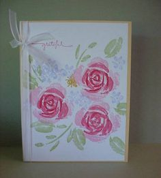 RIW grateful by - Cards and Paper Crafts at Splitcoaststampers Hand Stamped Cards, Stampin Up Catalog, Friendship Cards, Cricut Cards, Stamping Up Cards, Winter Cards, Sympathy Cards, Flower Cards, Homemade Cards