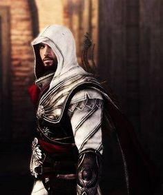 Ezio from Brotherhood Assassin's Creed Brotherhood, Assassins Creed Series, Assassins Creed Unity, Ezio, Assassin's Creed I, Connor Kenway, Infamous Second Son, Ac2, Fantasy Warrior