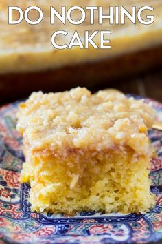This Do Nothing Cake is an easy, delicious crowd pleasing dessert. It's an easy no mixer cake, which is just kind of my cake! Learn why it's called a Do Nothing Cake which has been around since the 1940s! Brownie Recipes, Cake Recipes, Dessert Recipes, Yummy Recipes, Do Nothing Cake, Tornado Cake, Coconut Sheet Cakes, Rhubarb Cake, Tasty