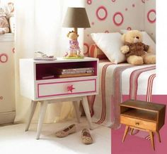All you need is paint and creativity to make this lovely nightstand.