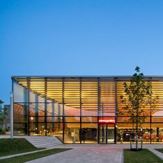 Powerhouse Company has completed a new student centre for Erasmus University in Rotterdam, which features a transparent exterior and a curving oak interior.