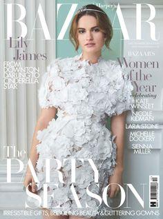 Lily James by Thomas Schenk for Harper's Bazaar UK December 2015
