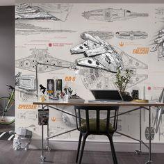 Resultado de imagen para wall e blueprint blueprints pinterest found it at wayfair star wars blueprints wall mural malvernweather Gallery
