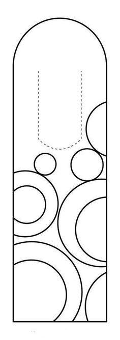Printable Bookmarks to Color; download - print - colour Pre - blank bookmark template