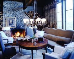 McAlpine Booth & Ferrier Interiors McAlpine - The Shack - McAlpine Booth & Ferrier Interiors Kitchen Keeping Room, Masculine Room, Interior Decorating, Interior Design, Cabins And Cottages, Living Spaces, Living Rooms, Sweet Home, Fireplaces
