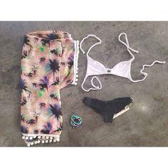 shop this look at the bikini fox! wonderlandhonolulu kimono, frankie's bikinis top, boys&arrows bottoms, and vanessa mooney jewels