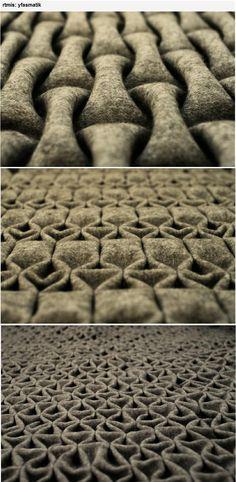 Berlin-based artist 'rtmis' has created a new felt folding technique. A…