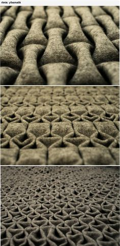 Berlin-based artist 'rtmis' has created a new felt folding technique. A…