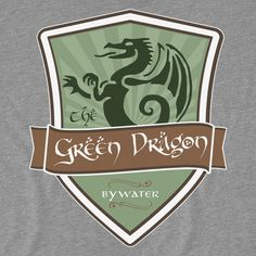 Shop The Green Dragon - Bywater the hobbit t-shirts designed by TheHookshot as well as other the hobbit merchandise at TeePublic. Lotr, Geek Decor, Thing 1, Green Dragon, Elvish, Jrr Tolkien, Harry Potter Fandom, Winter Is Coming, Silhouette Projects
