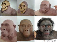 Australopithecus afarensis (Lucy) recreation. Paleoart Lion Sculpture, Statue, Art, Sculpture, Animales, Art Background, Kunst, Performing Arts, Sculptures