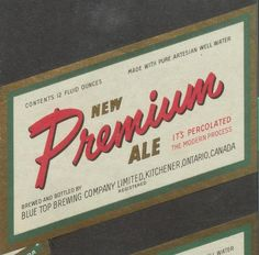 New Premium Ale by Thomas Fisher Rare Book Library, via Flickr