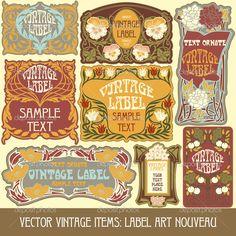 Label art nouveau — Стоковая иллюстрация #14222795