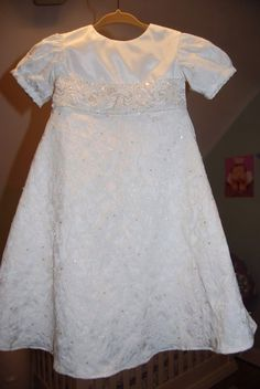Baby girl christening dress, made from mommy's wedding dress!!!   Liane at fairy godmother creations was amazing! www.fairygodmothercreations.com