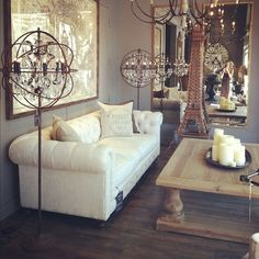 Can never resist popping into Restoration Hardware when at our Fashion Island store