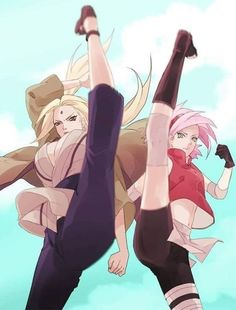 Image from the Naruto Art Collection Tsunade Senju and Sakura Haruno Otaku Anime, Anime Naruto, Naruto Cute, Naruto Girls, Manga Anime, Naruto Shippuden Sasuke, Naruto Und Hinata, Boruto, Sasuke Sarutobi
