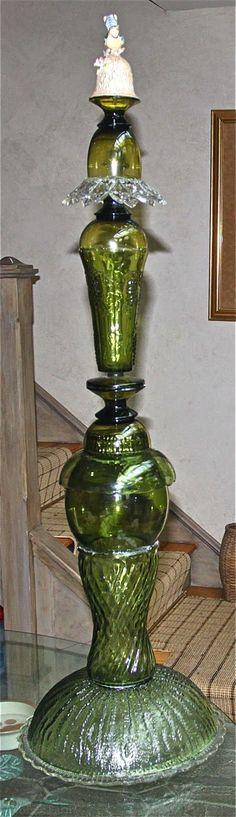 glass sculpture - garden tower
