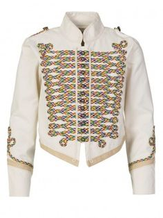 Stella McCartney Kids Cream Military Jacket sz 8