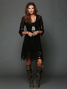 Mi Amore Lace Dress - *made* for Tall Girls. I have the boots (*those* boots), I have the legs, the accessories are a no-brainer. Pair it with the vintage moto jacket...*mwah*