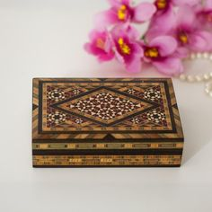 Wooden Inlay Jewelry Box Islamic Inlaid Mosaic by CozyTraditions  Global style home decor